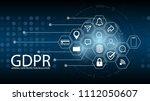 data protection regulation ... | Shutterstock .eps vector #1112050607