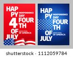 happy independence day 4 th... | Shutterstock .eps vector #1112059784
