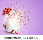 open gift with fireworks from... | Shutterstock .eps vector #111206417