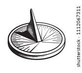 Sundial. Sun Clock. Hand Drawn...