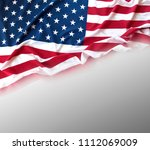 closeup of american flag on... | Shutterstock . vector #1112069009