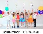 adorable little children at... | Shutterstock . vector #1112071031