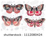 collection of colorful... | Shutterstock .eps vector #1112080424