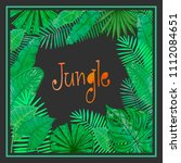 vector frame with tropical... | Shutterstock .eps vector #1112084651