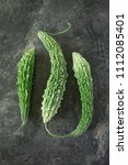 momordica charanti  bitter... | Shutterstock . vector #1112085401