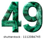arabic numeral 49  forty nine ... | Shutterstock . vector #1112086745
