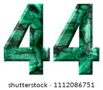 arabic numeral 44  forty four ... | Shutterstock . vector #1112086751