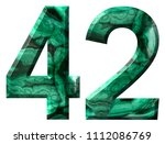 arabic numeral 42  forty two ... | Shutterstock . vector #1112086769
