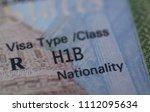 Fragment Of Stamp H1b Usa...