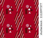 geometric simple seamless... | Shutterstock .eps vector #1112097377