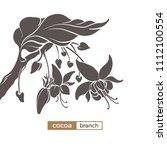 vector icon of cocoa tree... | Shutterstock .eps vector #1112100554