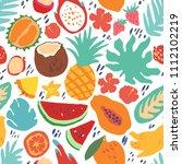 minimal summer trendy vector... | Shutterstock .eps vector #1112102219