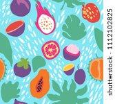 minimal summer trendy vector... | Shutterstock .eps vector #1112102825