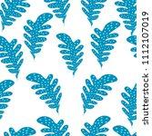 seamless green leaves... | Shutterstock .eps vector #1112107019