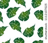 seamless green leaves... | Shutterstock .eps vector #1112107025