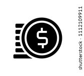 icon coin style glyph is... | Shutterstock .eps vector #1112109911
