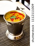 north india food tadka dal in... | Shutterstock . vector #1112111009