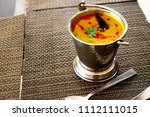 north india food tadka dal in... | Shutterstock . vector #1112111015