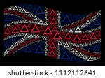 waving uk official flag on a... | Shutterstock .eps vector #1112112641