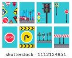 traffic light day brochure... | Shutterstock . vector #1112124851