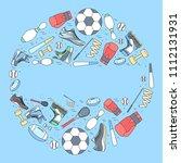 circular concept of sports... | Shutterstock . vector #1112131931