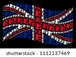 waving uk official flag on a... | Shutterstock .eps vector #1112137469