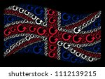 waving great britain state flag ...   Shutterstock .eps vector #1112139215