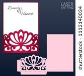laser and die cut pocket... | Shutterstock .eps vector #1112140034