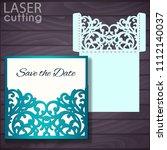laser and die cut pocket... | Shutterstock .eps vector #1112140037
