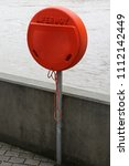 lifebuoy life saver in orange... | Shutterstock . vector #1112142449