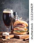 homemade fresh hamburger and... | Shutterstock . vector #1112146829