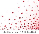 red and pink paper hearts... | Shutterstock .eps vector #1112147024