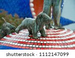 small dog statue from oxidized...   Shutterstock . vector #1112147099