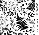 seamless pattern with leaves.... | Shutterstock .eps vector #1112148545