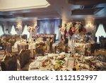 luxury wedding table setting. | Shutterstock . vector #1112152997