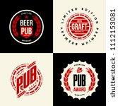 modern craft beer drink vector...   Shutterstock .eps vector #1112153081