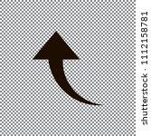 redo arrow icon. direction... | Shutterstock .eps vector #1112158781