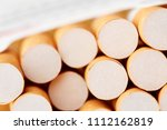 cigarettes in a pack close up...   Shutterstock . vector #1112162819