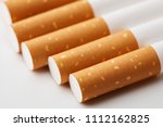 cigarette close up isolated on...   Shutterstock . vector #1112162825
