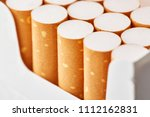 cigarettes in a pack close up...   Shutterstock . vector #1112162831
