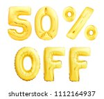 fifty percent off discount sign ... | Shutterstock . vector #1112164937