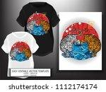 t shirt design japanese style...   Shutterstock .eps vector #1112174174