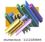 3d inscription summer sale....   Shutterstock . vector #1112185844