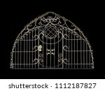 an openwork door in the old... | Shutterstock . vector #1112187827