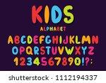 children's font in cartoon... | Shutterstock .eps vector #1112194337