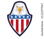 american eagle usa flag emblem | Shutterstock .eps vector #1112197967