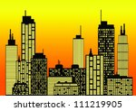 city skyline | Shutterstock .eps vector #111219905