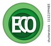 eco friendly product logo.... | Shutterstock .eps vector #1112199485