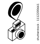 photographic camera with point... | Shutterstock .eps vector #1112200661