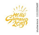 vector template hello summer... | Shutterstock .eps vector #1112205689